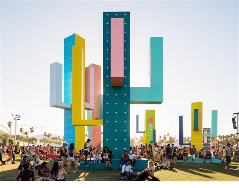 不锈钢仙人掌城市景观广场雕塑
