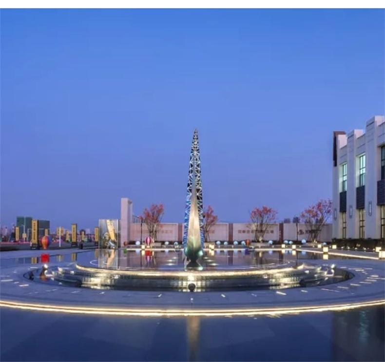 不锈钢环形景观广场雕塑