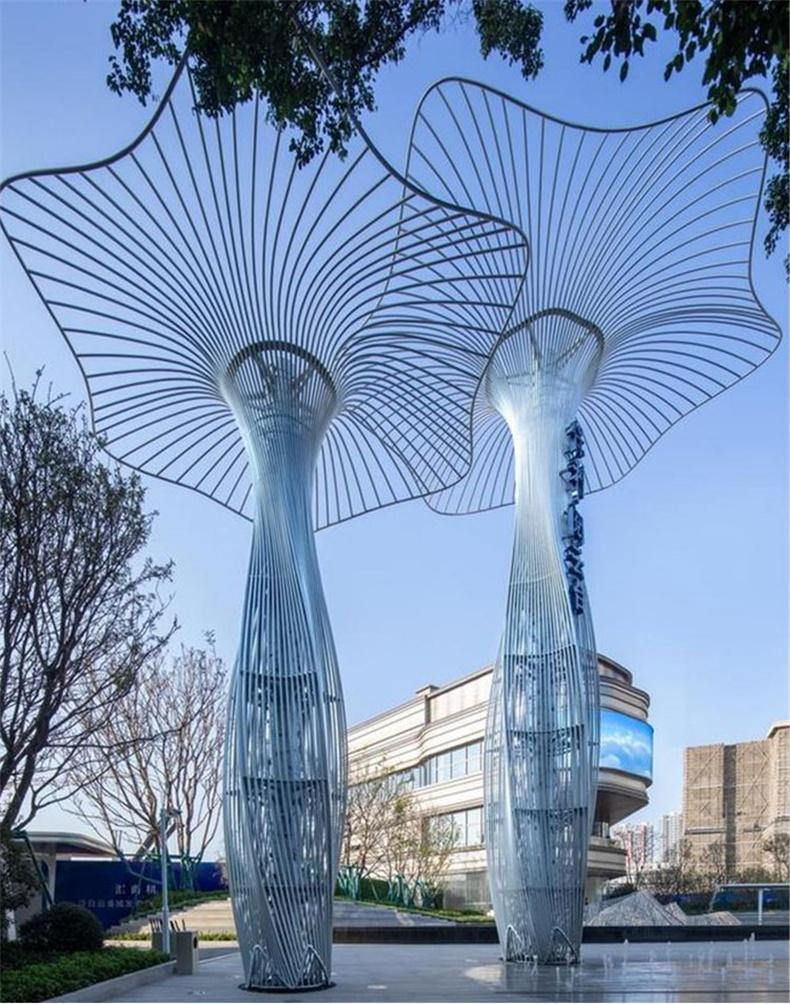 不锈钢艺术城市景观雕塑