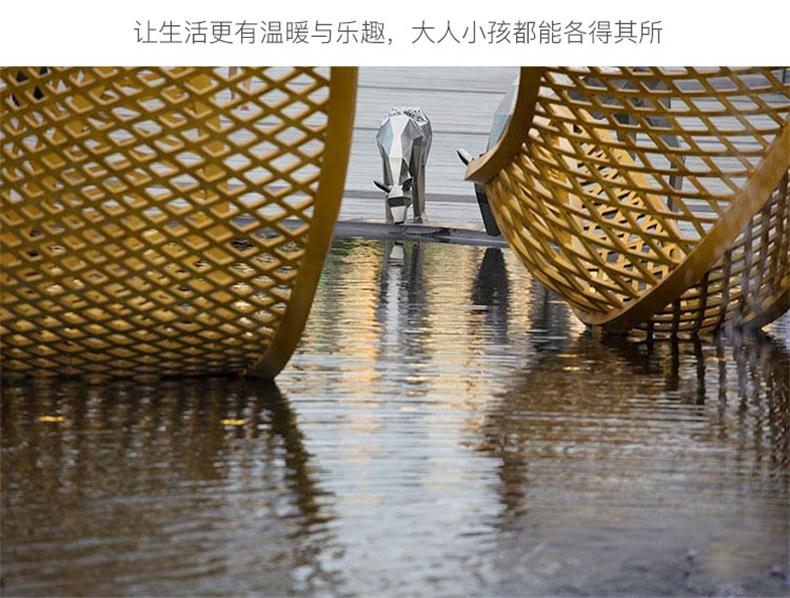 不锈钢树叶城市景观广场雕塑