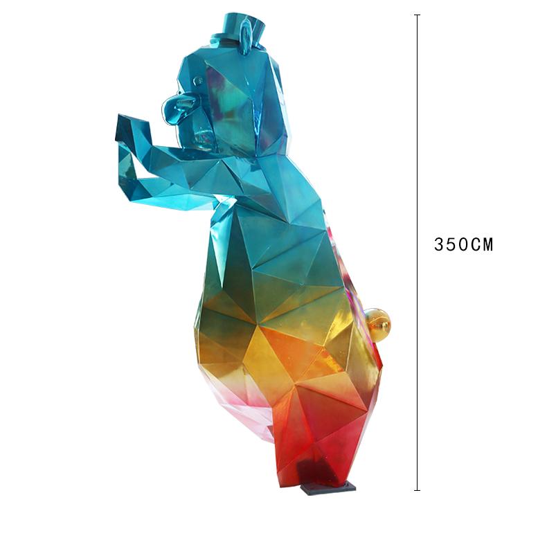 玻璃钢彩虹熊动物商场雕塑