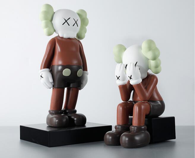 kaws暴力熊玻璃钢雕塑,家居简约摆件!
