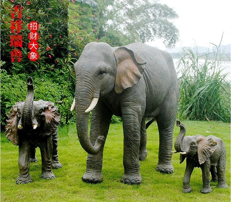 玻璃钢大象雕塑,招引吸财!