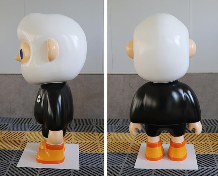 波波熊玻璃钢雕塑,时尚店铺家居潮流摆件!