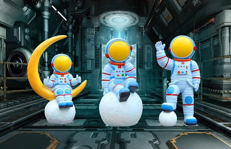 玻璃钢宇航员太空人物雕塑,玻璃钢生产厂家制作!