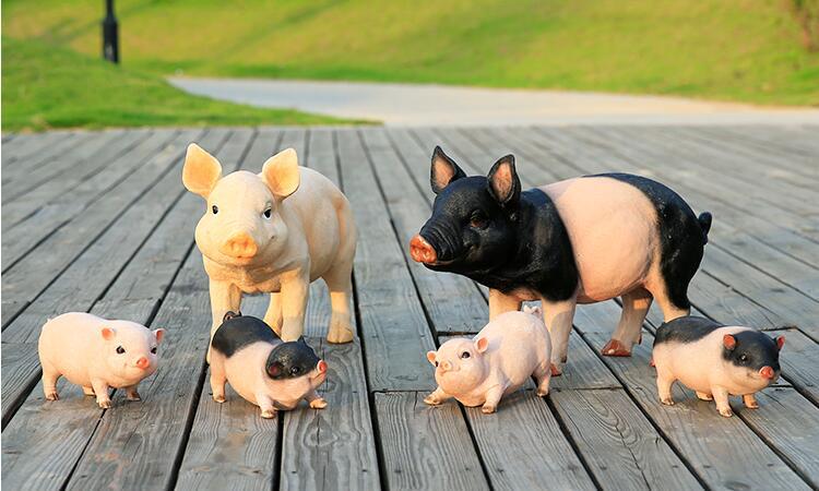 小猪玻璃钢雕塑,招财富贵!