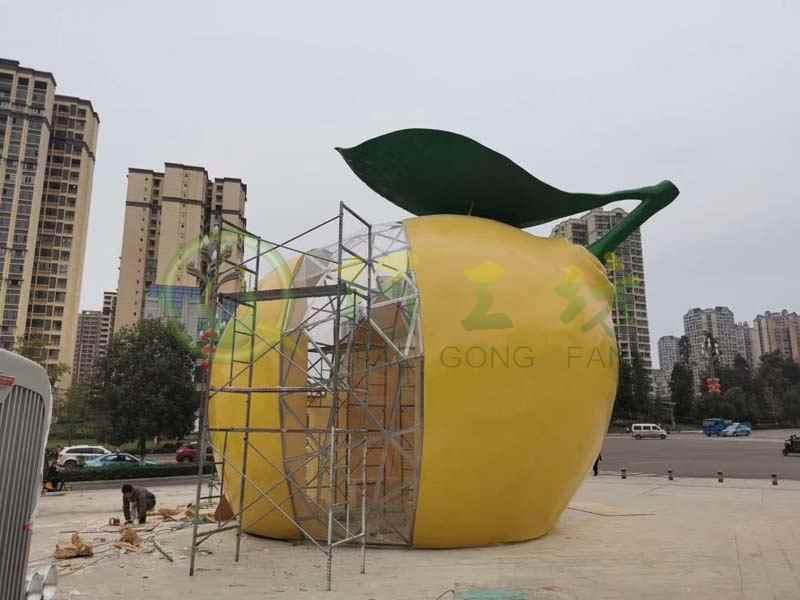 玻璃钢水果柠檬装饰品广场商场园林景观幼儿园摆件