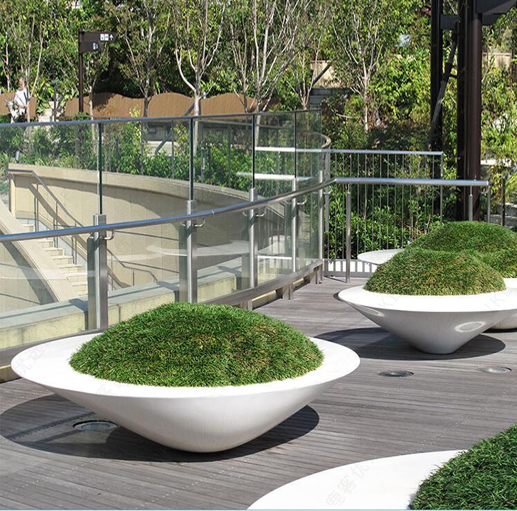 玻璃钢椭圆异形花盆创意花池