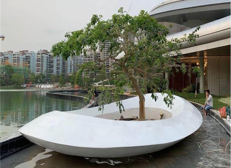 玻璃钢大异形树池景观户外种植池