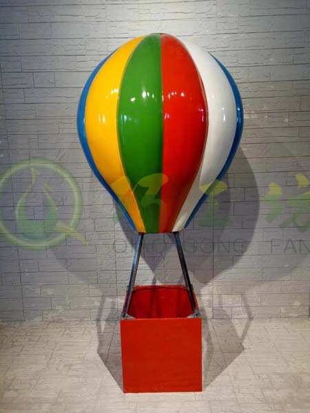 户外大型热气球摆件玻璃钢雕塑花园林景观小品庭院商场楼盘装饰