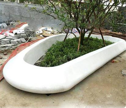 玻璃钢椭圆形花坛户外景观种植池