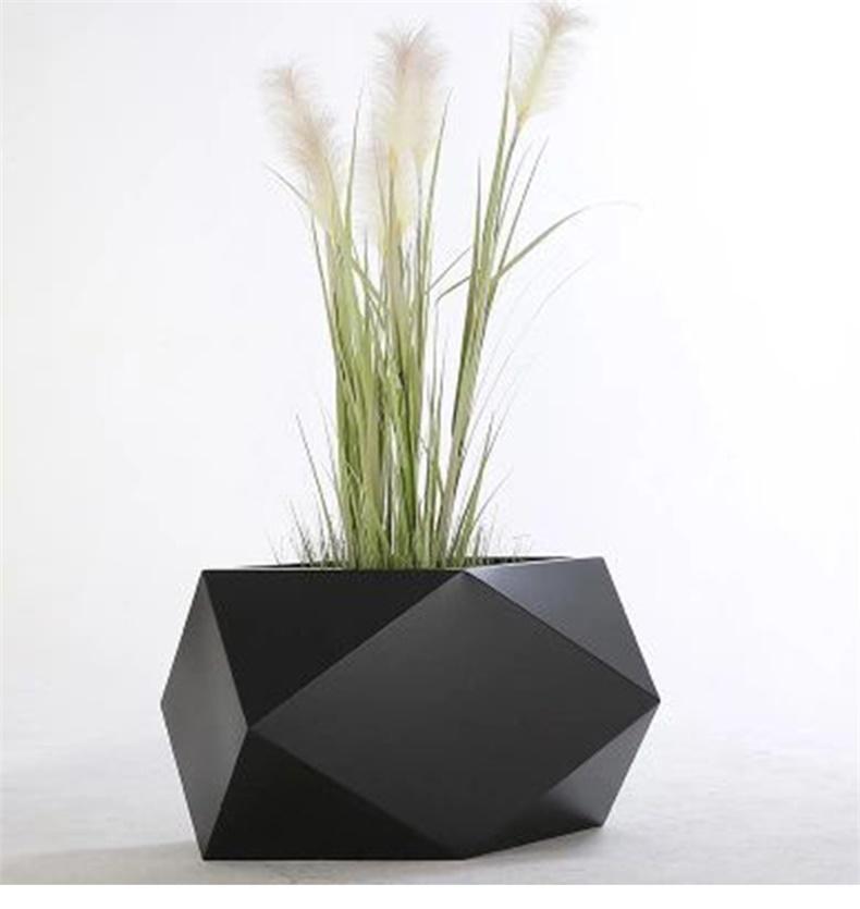 菱形不锈钢花盆艺术创意花钵
