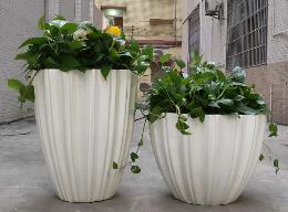 贝壳造型玻璃钢花盆异形户外花钵