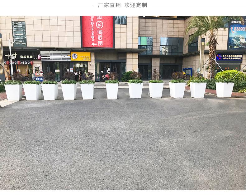 玻璃钢户外花箱街道绿化市政景观花盆