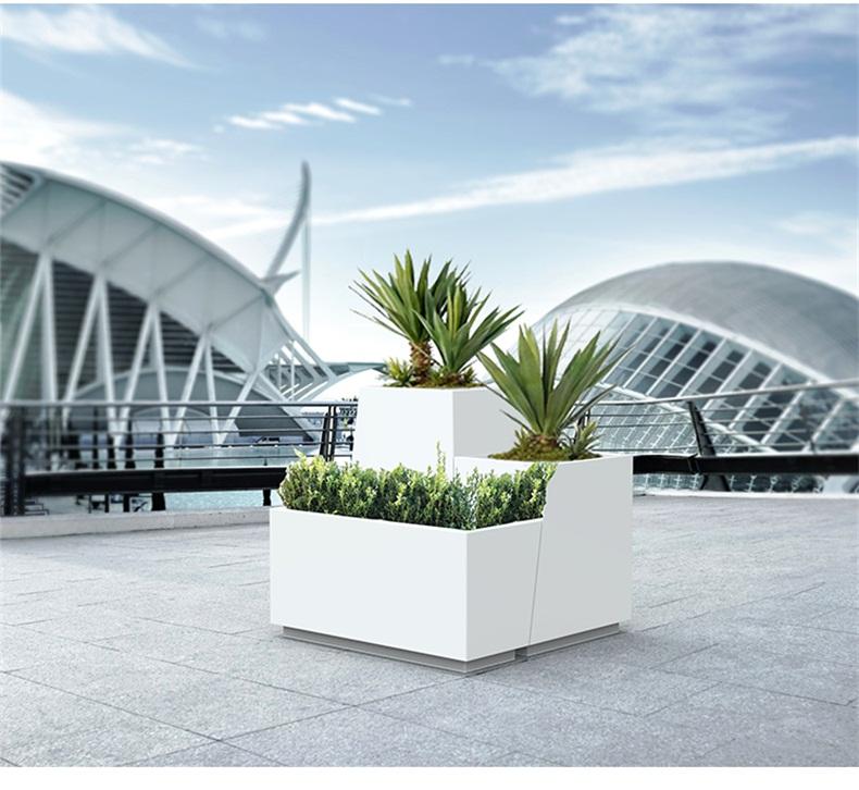 户外玻璃钢艺术花箱市政绿化工程景观花盆