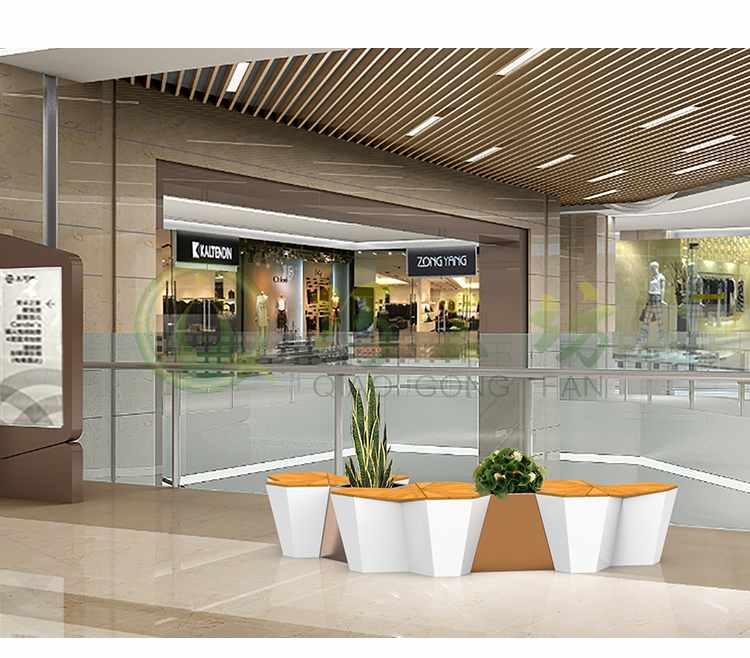 枫叶木纹玻璃钢坐凳创意景观艺术广场休闲椅
