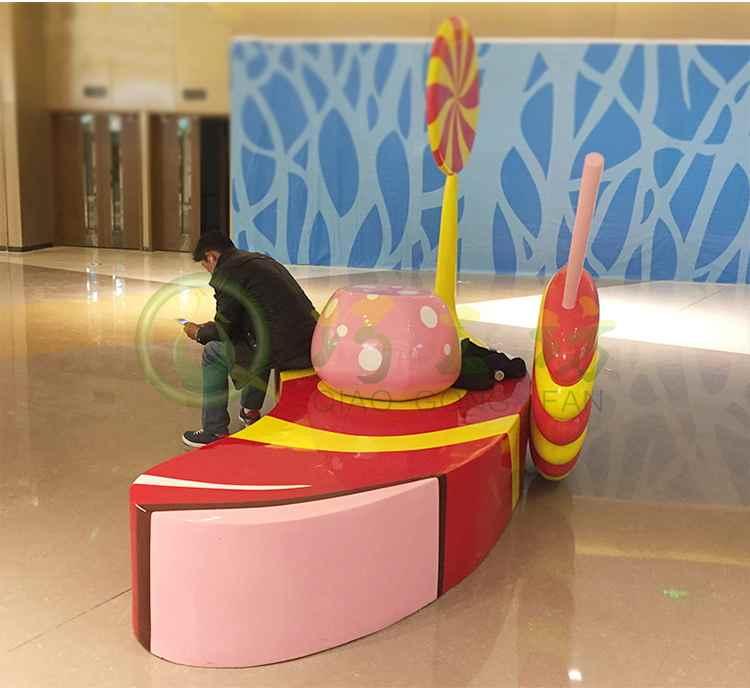蜂蜜玻璃钢座椅创意商场美陈酒店艺术坐凳