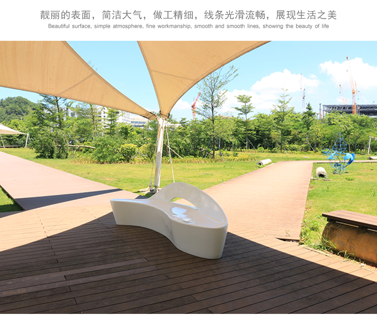 玻璃钢座椅海豚造型时尚休闲椅个性化艺术长凳