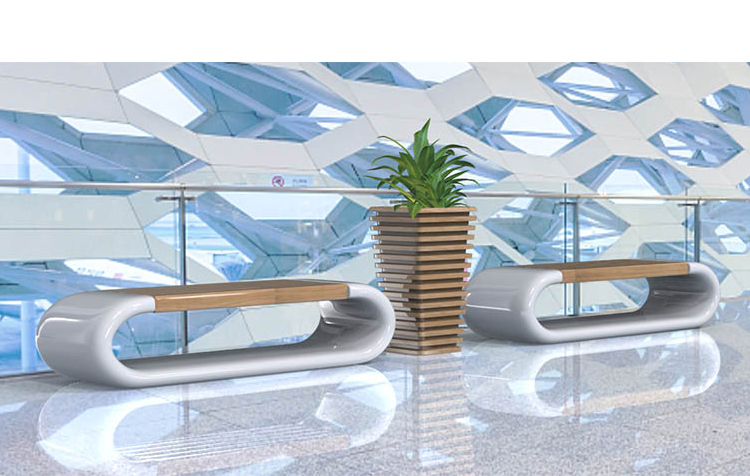 玻璃钢花盆座椅美陈组合环形坐凳酒店售楼休息椅子
