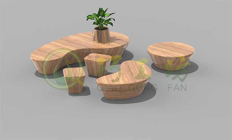玻璃钢商业美陈坐凳组合写字楼休息区凳子广场椅子