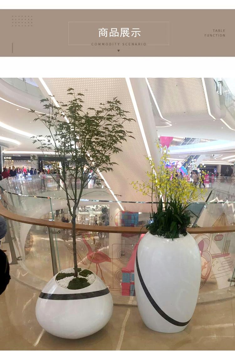 玻璃钢商场酒店美陈花盆组合