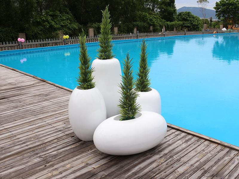 玻璃钢花盆组合户外园林景观花钵落地花器