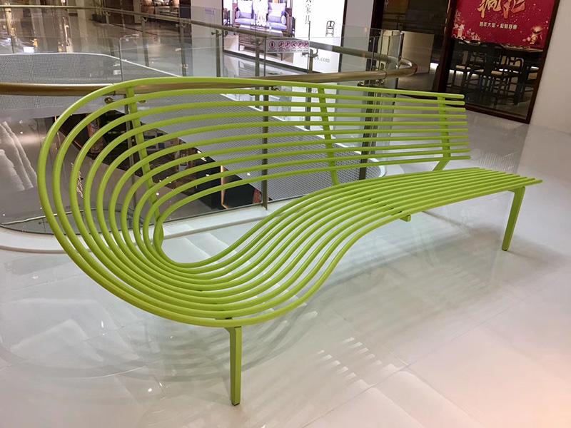 不锈钢五金异形创意靠背坐凳