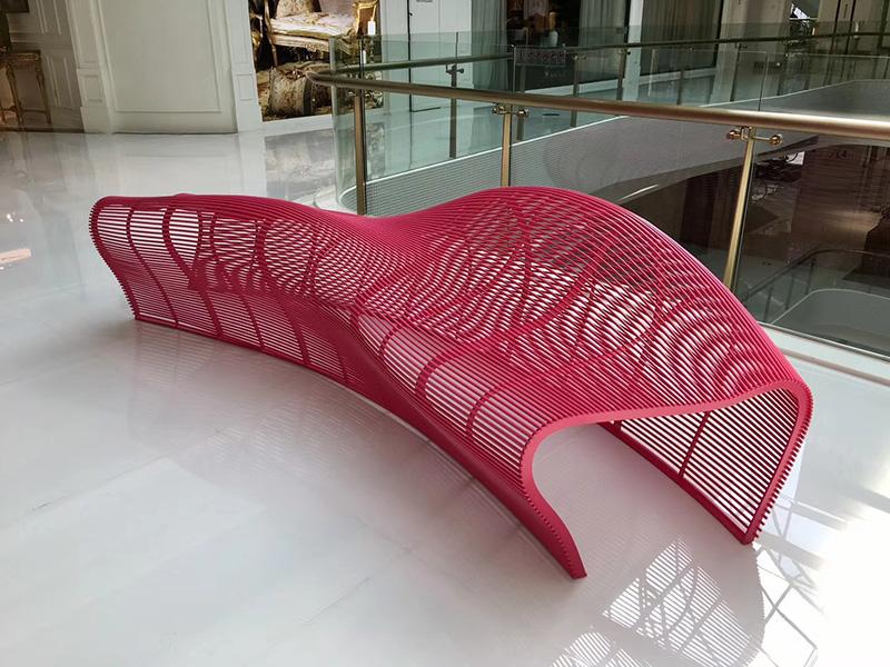 不锈钢铁艺金属镂空异形坐凳