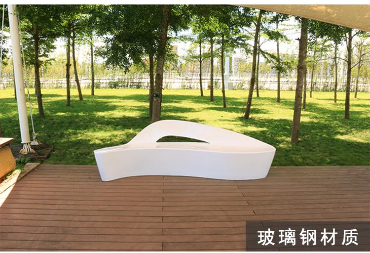 玻璃钢室内等候区造型海豚椅户外个性坐凳商场座椅