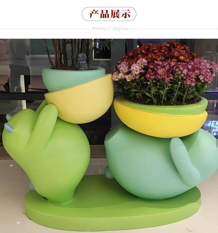 玻璃钢花盆酒店圆形大号组合落地花瓶花器