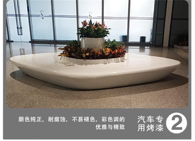玻璃钢机场大厅花盆商场公共区花器