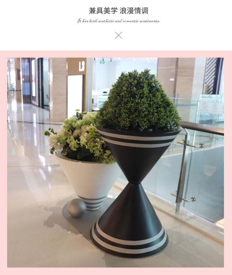 玻璃钢异形花盆商场售楼部花坛酒店花器商业街花钵户外大花瓶