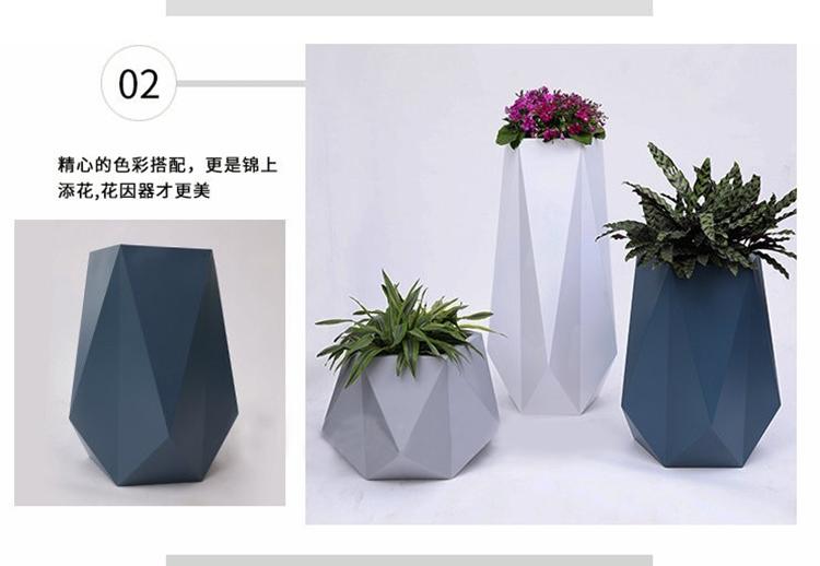 玻璃钢花盆组合酒店落地花瓶摆件户外园林景观大花箱