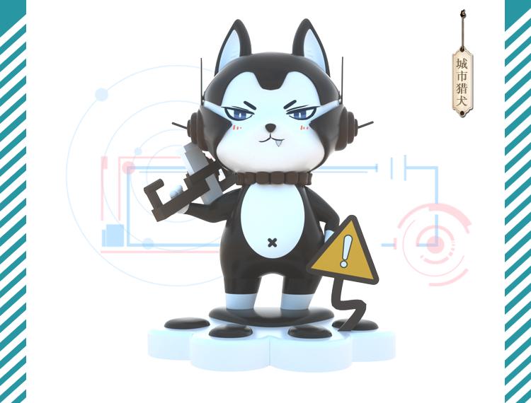 原创美陈IP玻璃钢卡通动物雕塑
